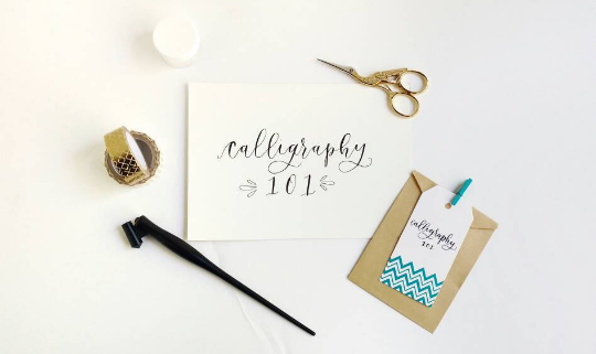 Introduction to the art of modern pointed pen calligraphy little